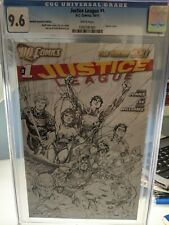 JUSTICE LEAGUE # 1 CGC 9.6 RETAILER INCENTIVE SKETCH EDITION NEW 52 LEE JOHNS DC