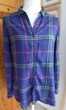 Ladies Atmosphere Purple and Red Checked Top Size 12