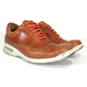 Cole Haan Air Soles Colab Shoes Orange Leather Men's Size 10.5 C14098 K14