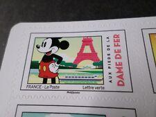 FRANCE 2018 timbre AUTOCOLLANT MICKEY DAME DE FER TOUR EIFFEL DISNEY, neuf** MNH