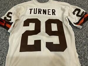 Eric Turner Signed Autographed Game Used Jersey Cleveland Browns