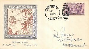 775 3c Michigan, W.M. Grandy cachet in purple and brown (picture) [061121.116]