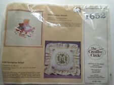 "The Creative Circle Cross Stitch Kit #1652  Playtime Friends 1986 Size 13"" X 13"""