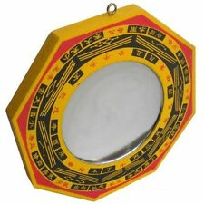 Bagua Mirror (WOODEN )  ( 5X5 INCHES ) FOR GOOD FORTUNE  Pakua Mirror  Fengshui