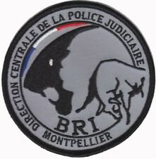 Ecusson POLICE NATIONALE D.C.P.J B.R.I ANTENNE MONTPELLIER 34