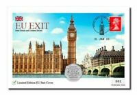 Brexit 50p Coin & Stamp Cover Limited Edition Only 995 EU Exit 2020 SOLD OUT
