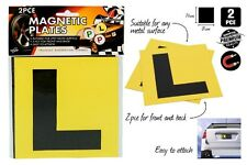 2pcs Driver Magnetic yellow L Plates Brand New