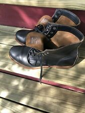 Wolverine Men's 1000 Mile Black Leather Boots Sz 11 | Made In Usa