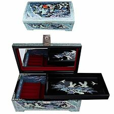 Antigue Jewelry Box Mother of Pearl Jewelry Organizer Women Gift Items 5027C