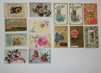 LOT OF  23  GREETINGS ANTIQUE  POSTCARDS