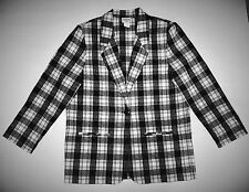 NEW BLACK & WHITE BLAZER/JACKET SIZE MISSES MEDIUM/POSSIBLY LARGE TOO