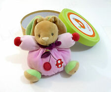 Kaloo Colors Pink Chubby Rabbit Cherry SOFT Small Plush for Baby RARE! NIB