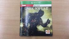 Dark Souls III 3 Starter guida manuale solo da XBOX One edizione Nuovo inglese