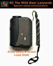 N2 The Wild Gear Lanyards Army Camo & Green Coiled Paracord Lanyards Tether