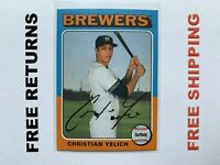 2019 Topps Archives Base Card #194 Christian Yelich Milwaukee Brewers MLB