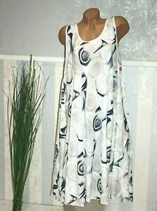 Sommerkleid IBIZA WEIß BUNT Strandkleid Luftig Kleid 44 46 48 50  /307-54