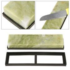 10000 # Grit Fine Naturel émeraude couteau aiguiseur pierre à aiguiser + base