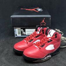 Pair Air Jordan V 5 Raging Bull Toro Red Og 3D Sneaker Keychain Figure+ Shoe Box