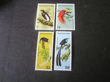 PAPUA NEW GUINEA, SCOTT # 365-368(4).1973 BIRDS OF PARADISE ISSUE MNH