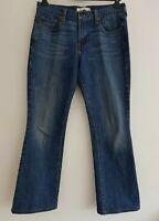 LEVI STRAUSS & CO 515 Women's Blue Denim Boot-Cut Jeans. Size UK 12.