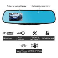 HD1080P 4.3'' LCD Spiegel Weiter Winkel Kamera Fahren Recorder Auto DVR Dash Cam