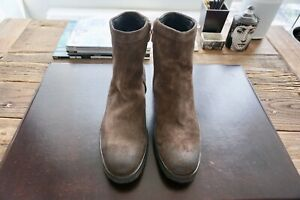 Mens Authentic Dirk Bikkembergs Distressed Leather Boots Size 45-12