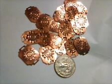 "20 Copper Rectangular Two Holes Sun Design Conchos Belt Purse Jewelery 1×34"""