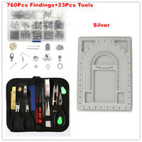 Jewellery Making Starter Kit Beads Tool Findings Wire Pliers Set Necklace Repair