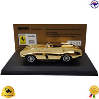 Diecast Model Car 1:43 Ferrari Gold Plated 750 Monza 2004 Italy Boxed Best