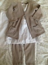 Lot OKAIDI OBAIBI robe gilet leggings 18 mois