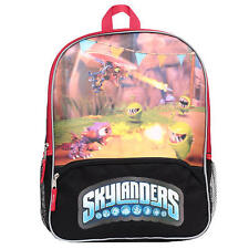 """Skylanders Fire Boys 16"""" Large School Backpack Bag with 3D FX NEW WITH TAGS"""