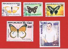 Mali #392-394 C402 & C412 VF used   Butterflies  Free S/H