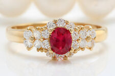 .74 CTW Natural PINK TOURMALINE and DIAMOND in 14K Yellow Gold Women Ring