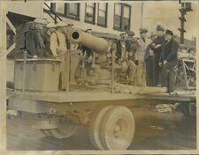 1942 US Navy Mobile Gun Training Unit Press Photo