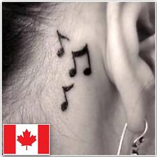 Fashion Waterproof Music Note Tattoo Removable Temporary Tattoos