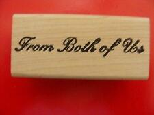 Connors  Rubber Stamp   From Both of Us Fancy  NEW