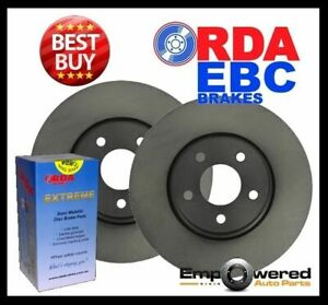 FRONT DISC BRAKE ROTORS + H/D PADS for Toyota Dyna 100 LH80R LH81R 9/1985-3/1988