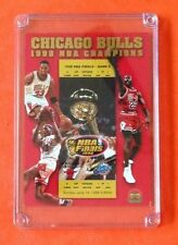 Chicago Bulls 1998 NBA Champions Uncirculated #'ed Jumbo Card Michael Jordan