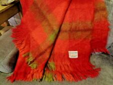 """ST. ALBANS Loch Maree Pure Mohair fringed throw made in Australia 50"""" x 68"""""""
