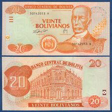 BOLIVIEN / BOLIVIA  20 Bolivianos L.1986 (2007) UNC  P.234