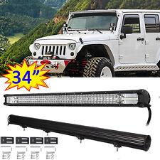 1020W 34inch LED Light Bar Spot Flood Combo Beam Lamp for Jeep Cherokee AWD SUV
