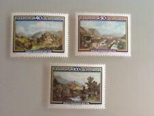 Liechtenstein 1982 SG#801-3 Moritz Menzinger MNH.