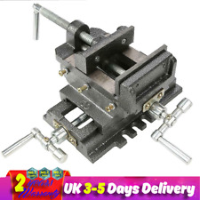 4inches Cross Slide Drill Press Vise Metal Bench Milling Vice Holder Clamp Tools