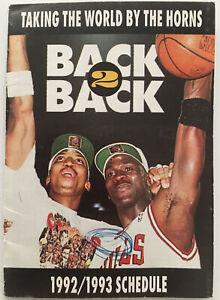 Chicago Bulls 1992/1993 Pocket Schedule