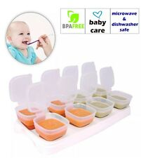 Baby Weaning Food Cubes Tray Pots Freezer Storage Containers Microwave UK SELLER
