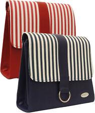 Ladies Designers Macbook Crossbody Massenger Office Bag Striped Satchel Handbag