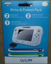 NINTENDO WII U OFFICIAL GAMEPAD ACCESSORY SET BRAND NEW! Stylus Screen Protector
