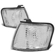 Fit 1995-1997 Toyota Tercel Pair Front Bumper Corner Light Turn Signal Lamps