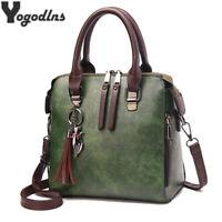 Vintage PU Leather Handbags Women Messenger Bags Designer Crossbody Shoulder Bag