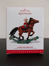 HALLMARK 2015 A PONY FOR CHRISTMAS ORNAMENT LIMITED EDITION  17th in series